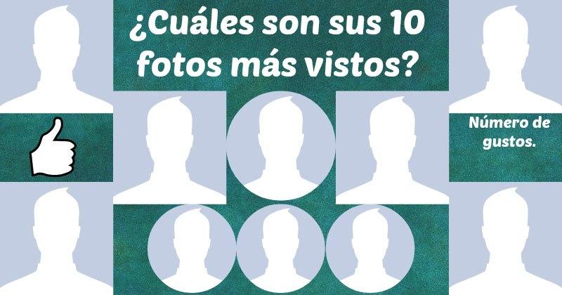 ¿Cuáles son sus diez fotos más vistos?