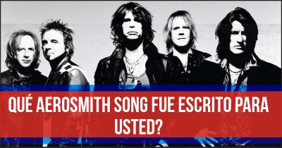 Qué Aerosmith Song fue escrito para usted?