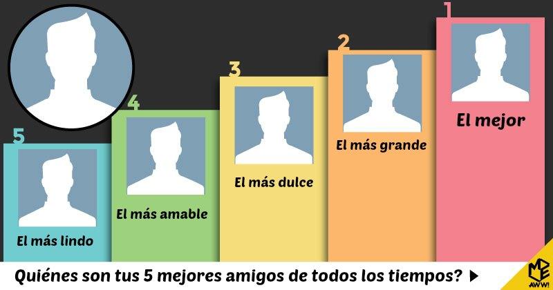 Quiénes son tus 5 mejores amigos de todos los tiempos?