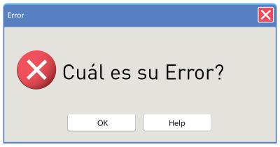 Cuál es su Error?