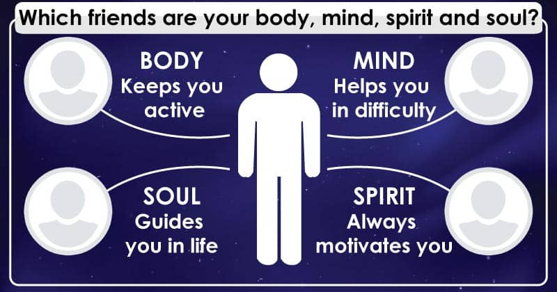 Which friends are your body, mind, spirit and soul?
