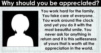 Why should you be appreciated?