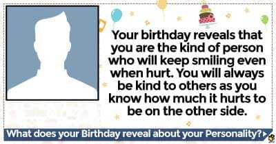 What does your Birthday reveal about your Personality?