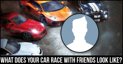 What does your Car Race with friends look like?