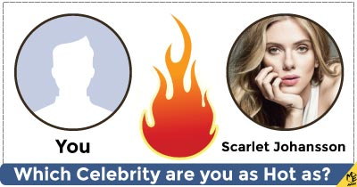 Which Celebrity are you as hot as?