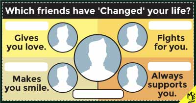 Which friends have