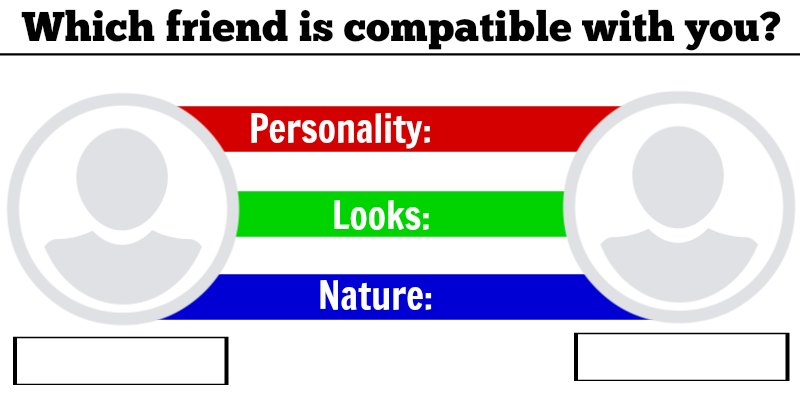 Which friend is compatible with you?