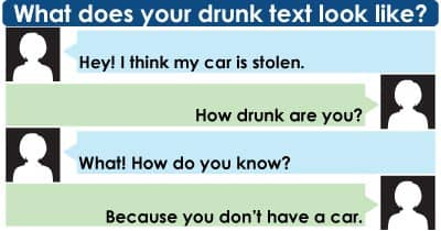 What does your drunk text look like?