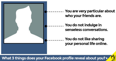 What 3 things does your Facebook profile reveal about you?