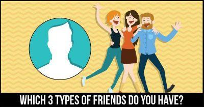 Which 3 types of friends do you have?