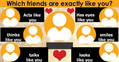 Which friends are exactly like you?