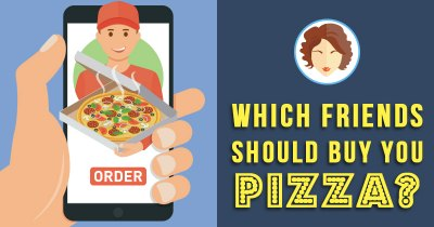 Which Friends should buy you Pizza?