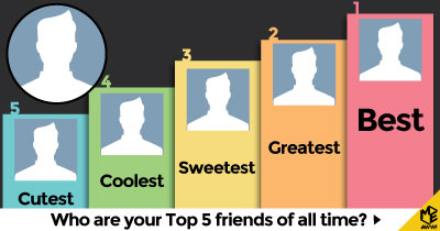 Who are your Top 5 Friends of all time?