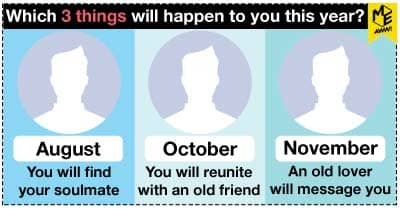 Which 3 things will happen to you this year?