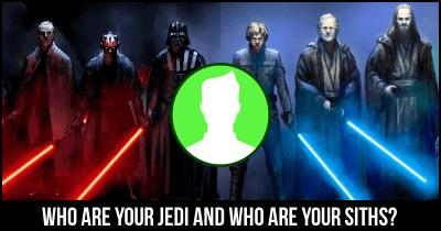 Who are your Jedi and who are your Siths?