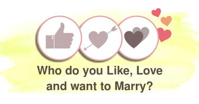 Who do you Like, Love and want to Marry?