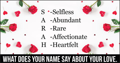What does your Name say about your Love.