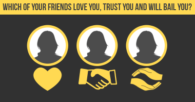 Which of your friends love you, trust you and will bail you?