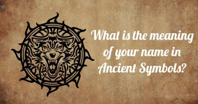 What is the meaning of your name in Ancient Symbols?