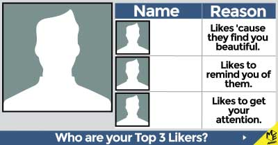 Who are your Top 3 likers?