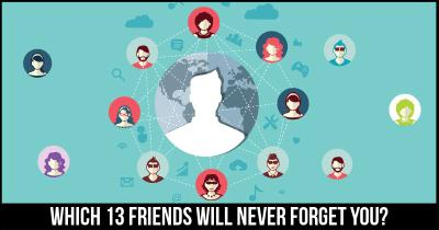 Which 13 Friends will never Forget you?