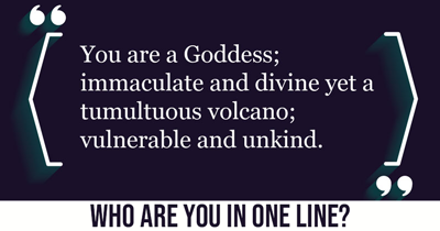 Who are YOU in one line?
