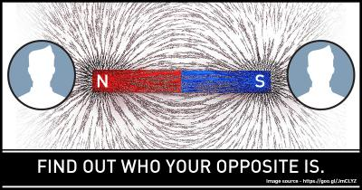 Find out who your opposite is.
