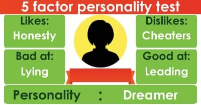 5 factor personality test.