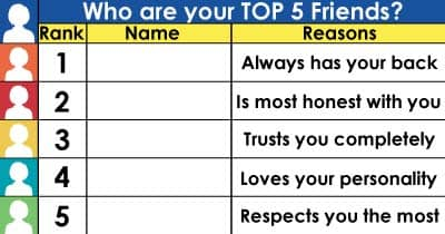 Who are your top 5 friends?