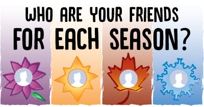 Who are your friends for each Season?