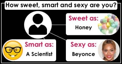How sweet, smart and sexy are you?