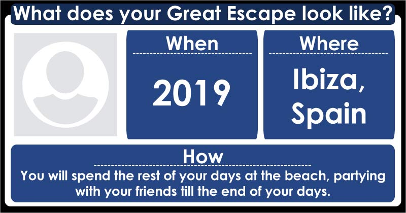 What does your Great Escape look like?