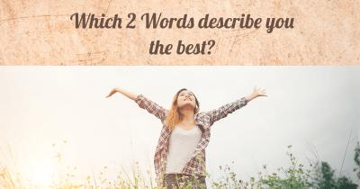 Which 2 Words describe you the best?