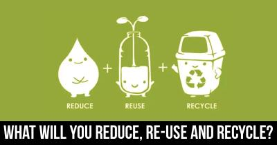 What will you Reduce,Re-use and Recycle?