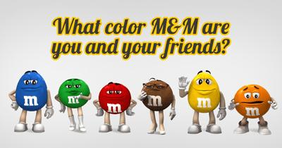 What color M&M are You and Your Friends?