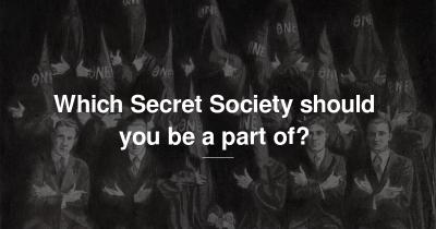 Which Secret Society should you be a part of?