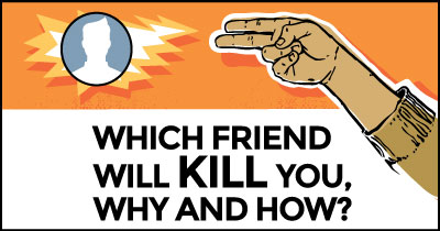 Which friend will kill you, why and how?