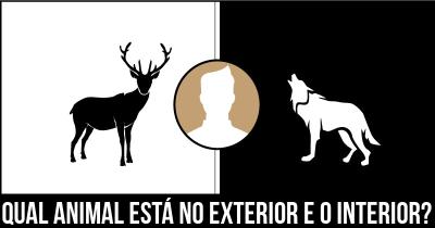 Qual Animal está no exterior e o interior?