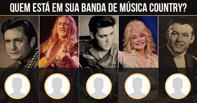 Quem está em sua banda de música Country?