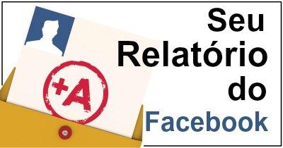 Seu relatório do Facebook