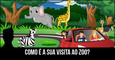 O que faz a sua viagem para o olhar do zoológico como?