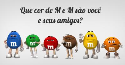 Que cor de M e M são você e seus amigos?
